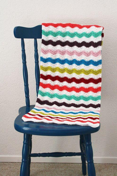Crochet ondulación manta puntada