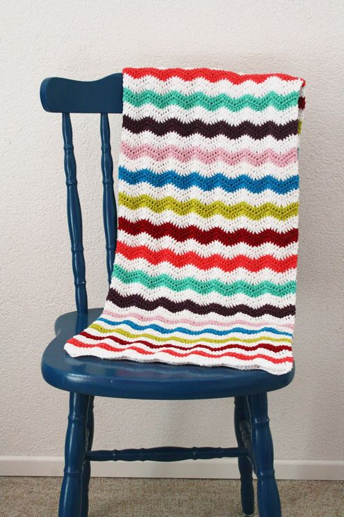 Crochet ripple stitch blanket...love these colors together