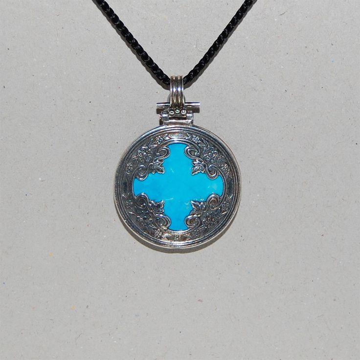 Silver cross, Cross pendant, Sterling silver cross, Carnelian, Onyx, Howlite, Μedditeranean style. by kreitto on Etsy