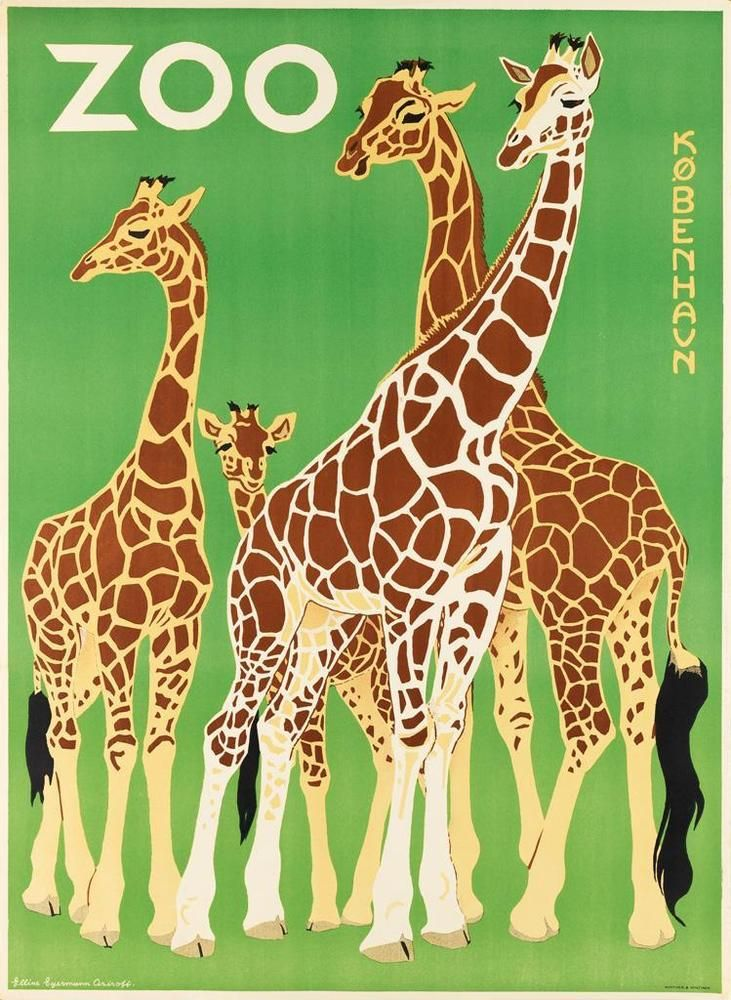 VARIOUS ARTISTS. [ZOOS / GIRAFFES.] Group of 3 posters. Sizes vary. Lot 455
