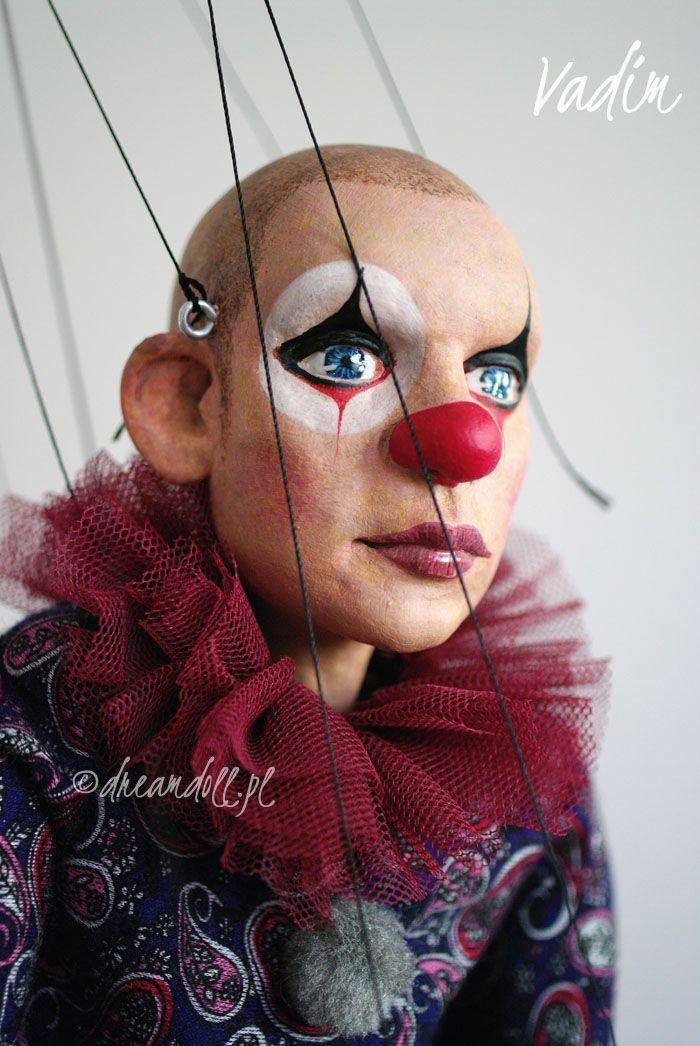 Vadim, the clown an art doll by dreamdoll.pl