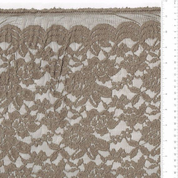 Truffle Scalloped Lace Fabric by yard Truffle by LaceFabrics