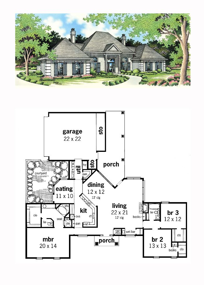 17 best images about courtyard house plans on pinterest for House plans cool