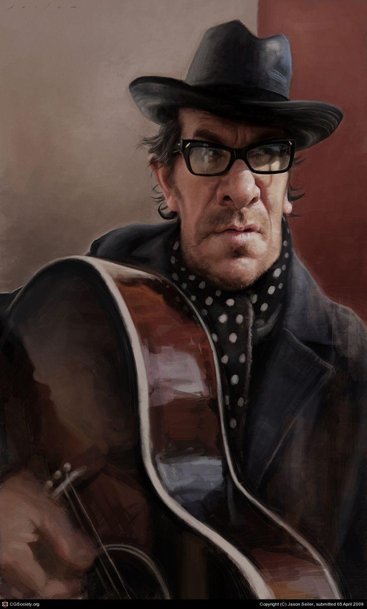Elvis Costello by Jason Seiler   2D   CGSociety