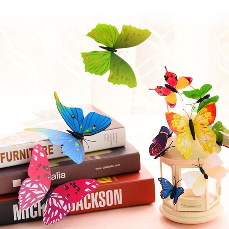 Cool Goodlucky PCS D Schmetterlinge Wanddeko Aufkleber Abziehbilder st Blau st Lila st Gr n st