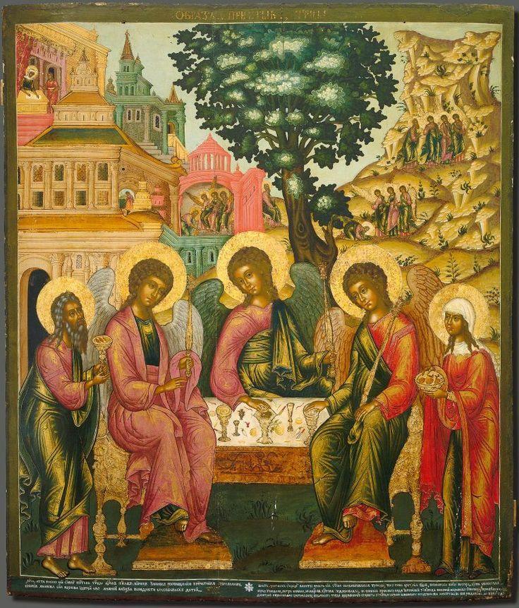 Icon painting / Ikonfestészet: Holy Trinity Icon (Old Testament Trinity, Philoxenia) / Szentháromság-ikon (Ószövetségi Szentháromság)