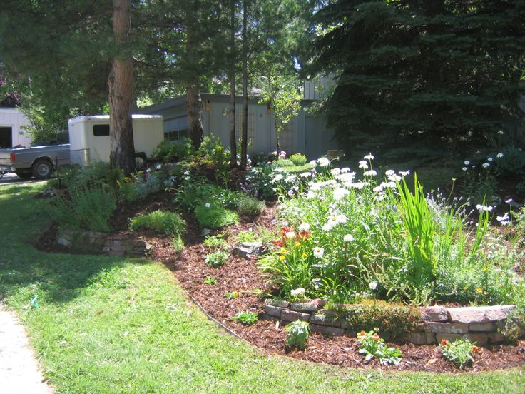 62 best front yard ideas images on pinterest landscaping for Berm garden designs