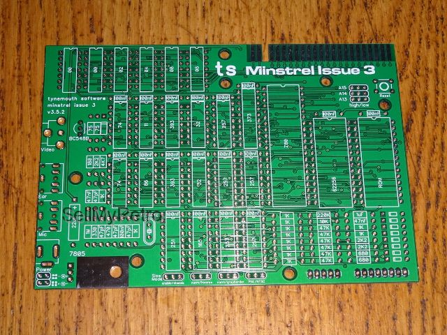 Minstrel 3 Zx81 Compatible Computer Pcb In 2020 Composite Video