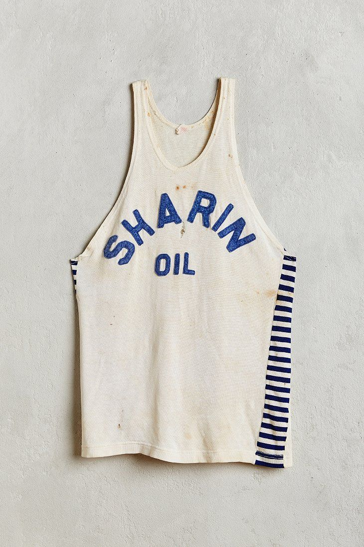 Vintage Sharin Oil Tank Jersey - Urban Outfitters