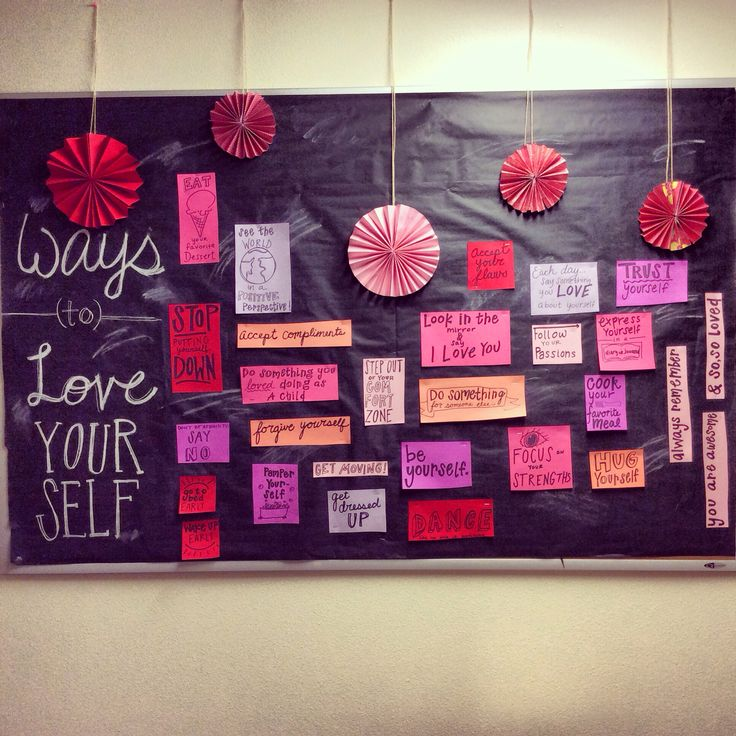 February bulletin board. Res life.
