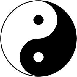 "The modern ""yin and yang symbol"" (taijitu)."