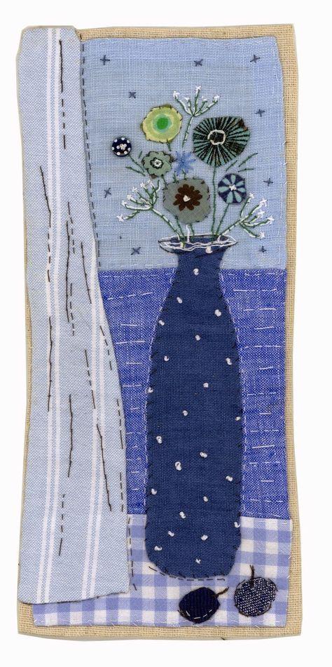 Sharon Blackman blue vase water flowers gingham drapery curtain sunglasses