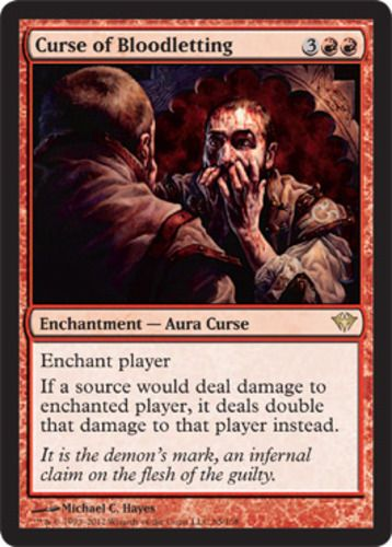 107 best magic images on pinterest magic cards card games and foil curse of bloodletting mtg magic the gathering dark ascension red rare enchantment card ccuart Gallery