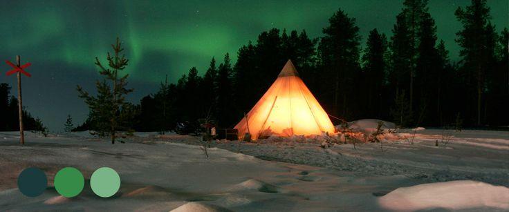 Kiruna Solen skickar sin vinterhälsning med norrskenet