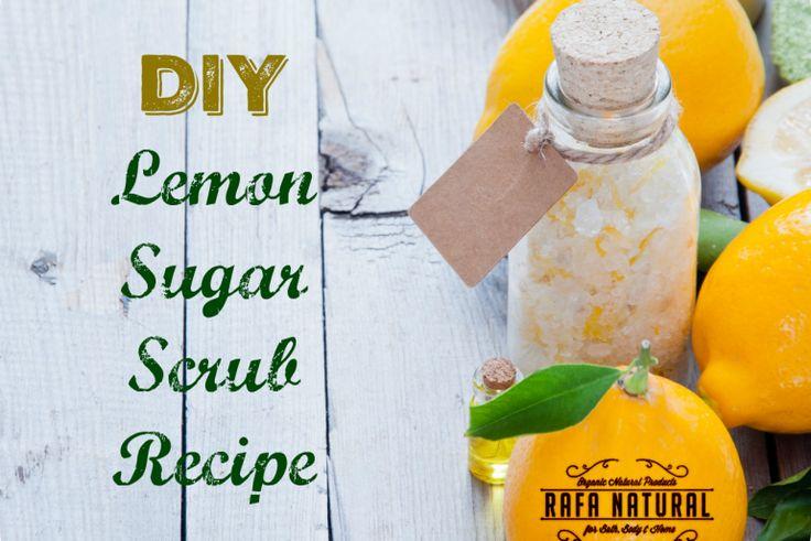 DIY Lemon Sugar Scrub Recipe & Video