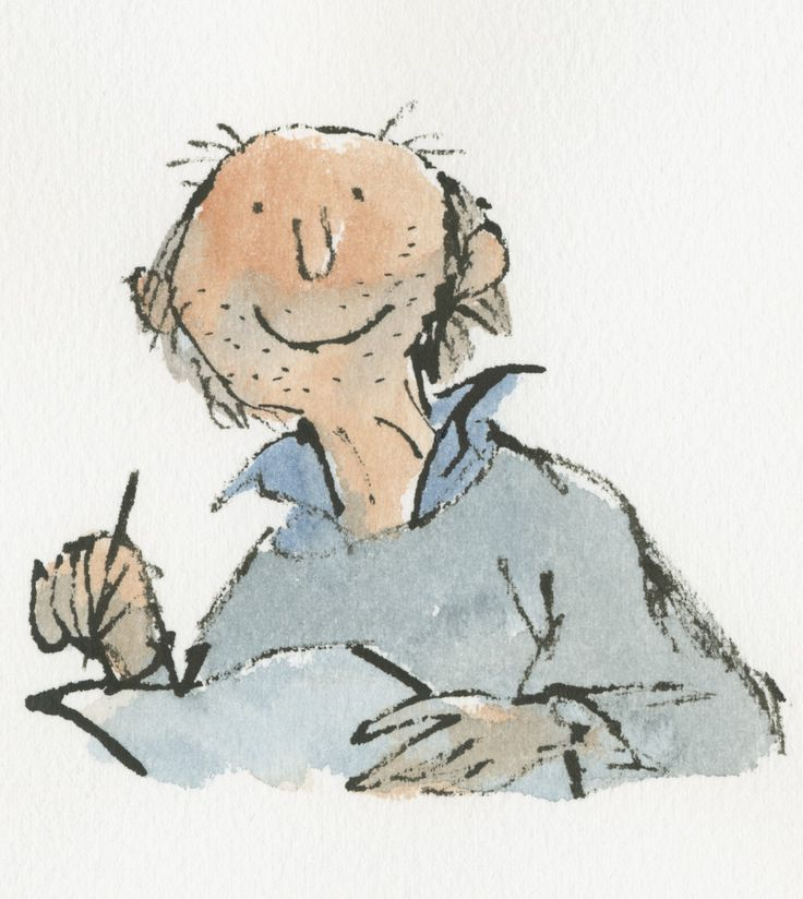 Quentin Blake illustrations- portrait