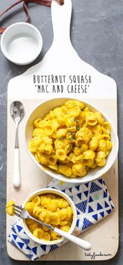 Butternut Squash Mac & Cheese: The kids will never know they're actually eating a vegetable when they try this Butternut Squash Mac & Cheese. Yum!
