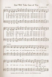 God Will Take Care of You ~ Free Hymn Printable