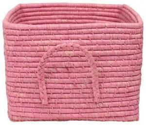 Pink Raffia Basket