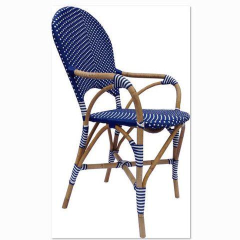 Bella Dining Chair - Blue. Perfect indoor / outdoor chair offering ultimate comfort. #interordesign #diningchair #coastalliving
