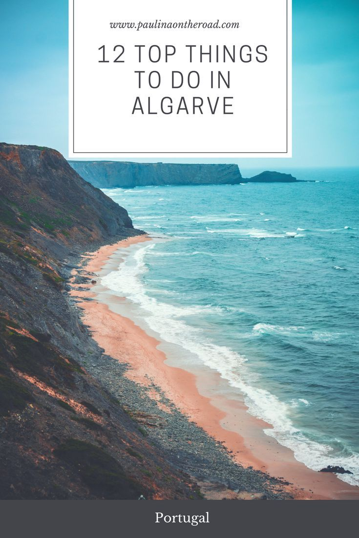 12 Top Things To Do in Algarve, Portugal. From sandy beaches, to spectacular cliffs, water sports and delicious food. Travel Bloggers selected their favorite spots and things to do. #portugal #algarve #sandybeaches #goldenbeaches