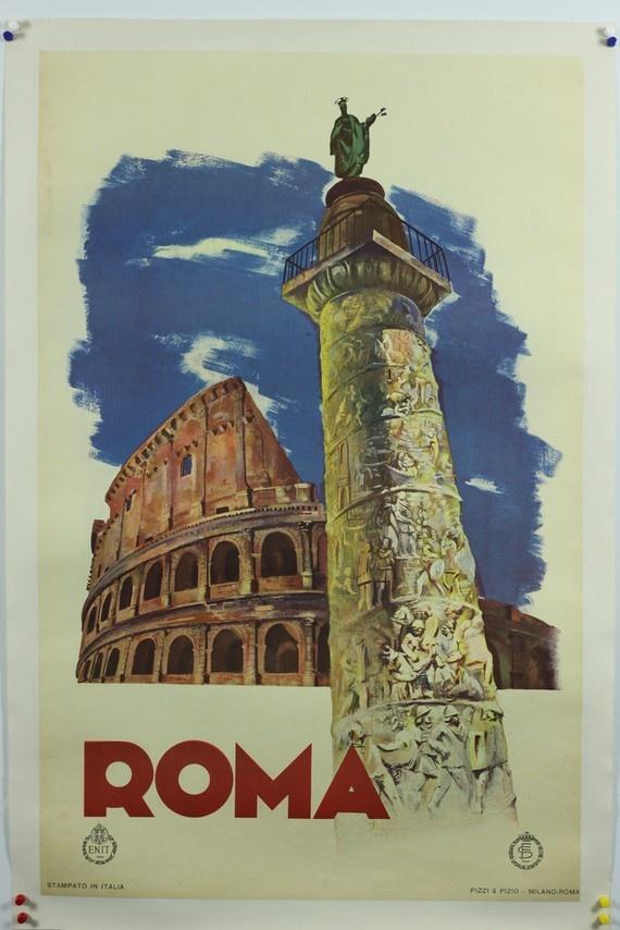 vintage travel poster // Rome