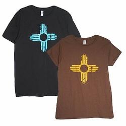 ''Distressed'' Zia Symbol T-Shirts