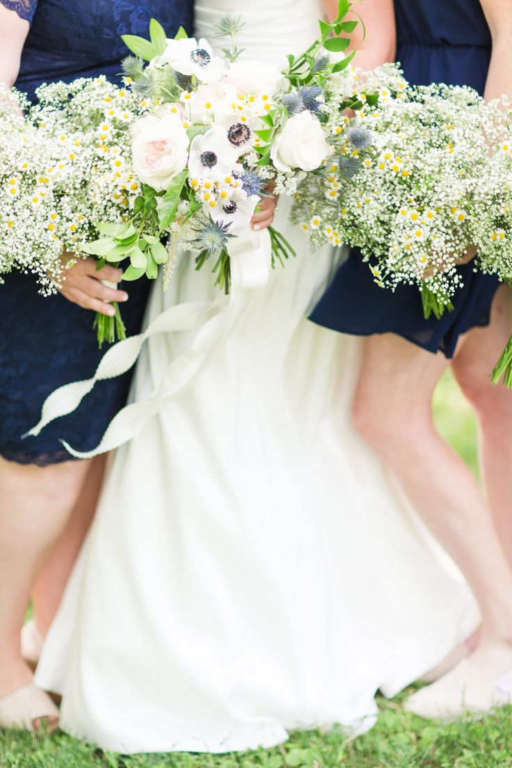 Rustic outdoor summer barn wedding with Navy bridesmaid ...