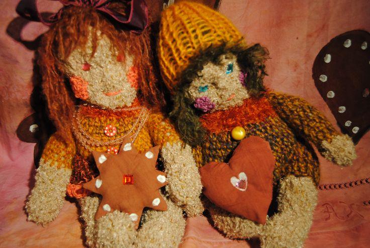 Hannu ja Kerttu, pienet virkatut nuket