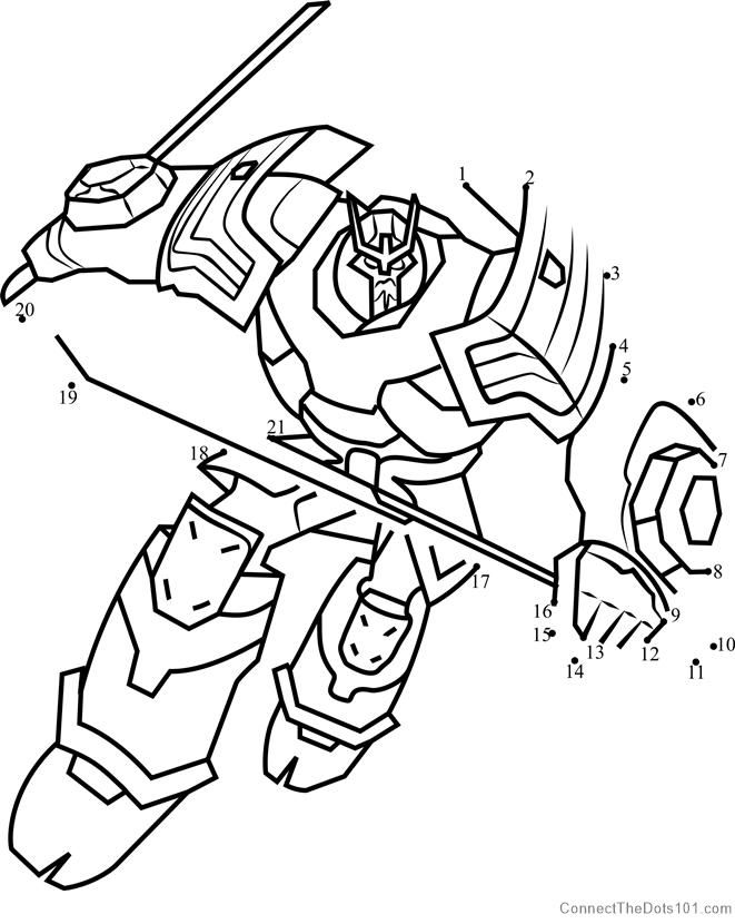 Drift From Transformers Dot To Dot Transformers Coloring Pages Coloring Book Download Fish Coloring Page