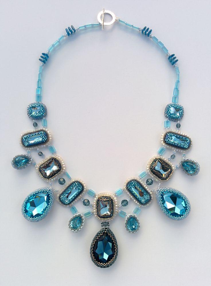 """Колье """"Синие кристаллы"""""""
