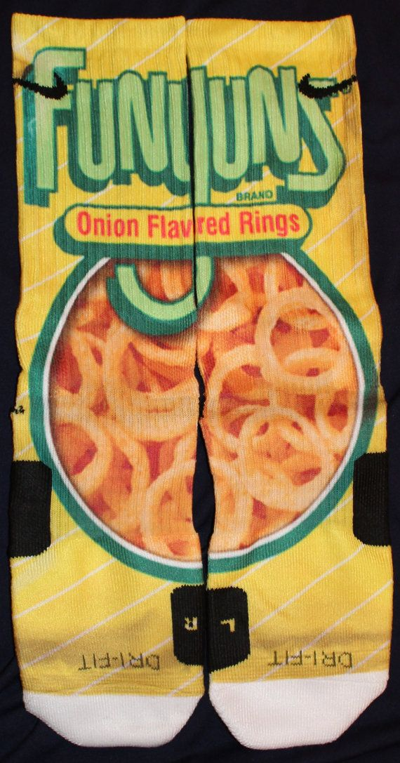 Funyuns Are Awesome Custom Nike Elite Socks by LuxuryElites, $35.99