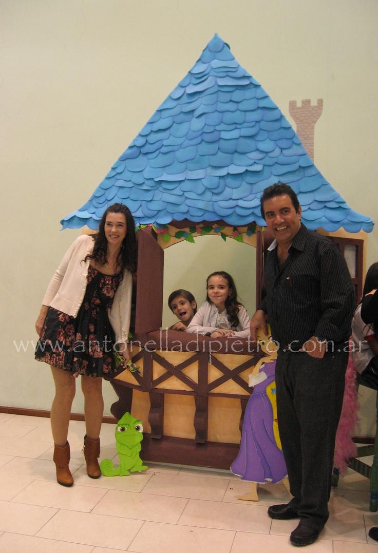 Rapunzel tower as a photo prop