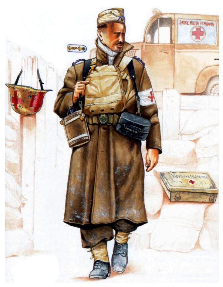 DAK - Infermiere dell'Afrika Korps tedesco, dietro si intavede una ambulanza della Croce Rossa Italiana.
