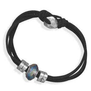 Black Suede Three Strand Fashion Bracelet Glass Bead Toggle Clasp Women Teens Wildfire Fashion. $10.00. Glass wheel bead charm. Other colors available. Three strands. Black suede. Toggle type clasp. Save 33% Off!