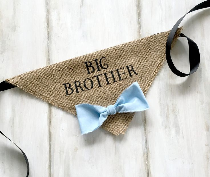Big Brother - Dog Bandana with Bowtie great for Pregnancy Announcements and Baby Shower Gifts!