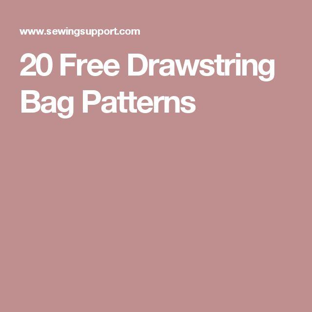 20 Free Drawstring Bag Patterns