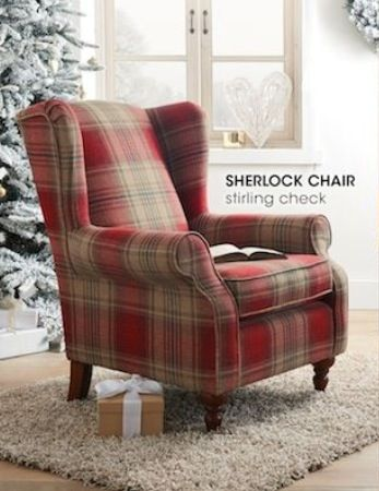 I'm fascinated with chairs full stop, but this arm chair in the gorgeous Balmoral Tartan is amazing.. what a wonderful fireside chair this would make #ArmChair
