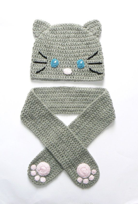 Hey, I found this really awesome Etsy listing at http://www.etsy.com/listing/162856201/crochet-cat-hat-and-scarf-for-girls-fall