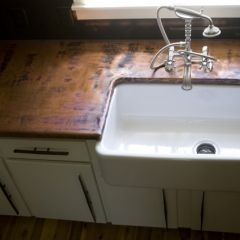 CounterDreams, Traditional Kitchens, Kitchens Ideas, Kitchens Countertops, Oak Hills, Hills Iron, Counter Tops, Farmhouse Sinks, Copper Countertops