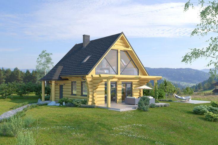 www.babiebale.pl dom z bali na sprzedaż, piękne przeszklenia, widok na pasmo Babiej Góry, tradycyjny, ekologiczny materiał w nowoczesnej odsłonie