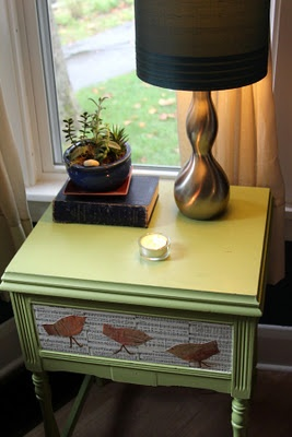 I am doing this to my old dresser drawers! just pick out