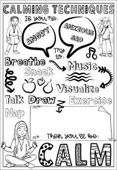 Calming Techniques Brain Breaks Coloring DOODLE PAGES