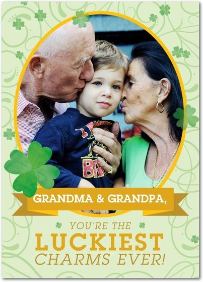 Luckiest Charms - St Patricks Day Cards in Wasabi | Magnolia Press: Card