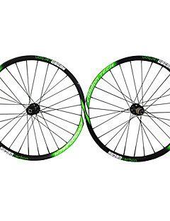 """Roues de Vélo(Noir / Vert,Entièrement en carbone) deVTT-Chambre à air-27.5"""""""