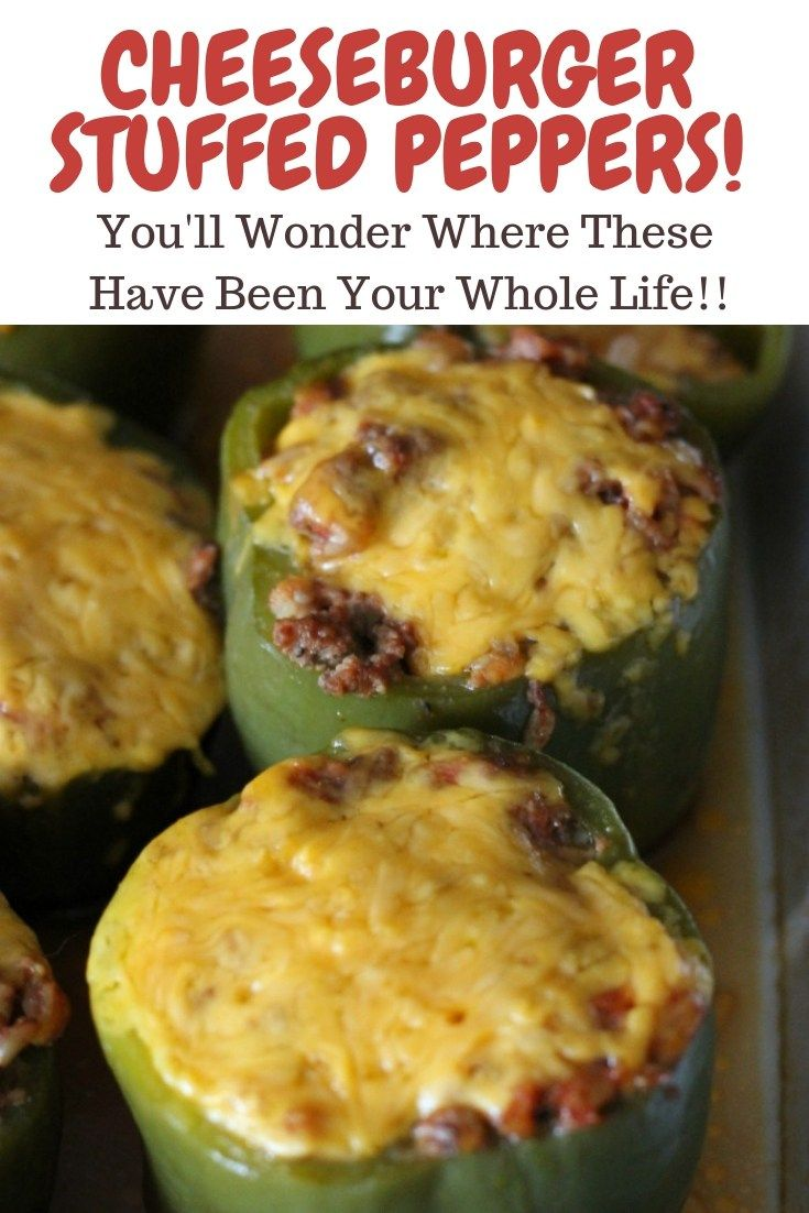 Stuffed Peppers Cheeseburger Style Organize Yourself Skinny Recipe Stuffed Peppers Easy Stuffed Pepper Recipe Peppers Recipes