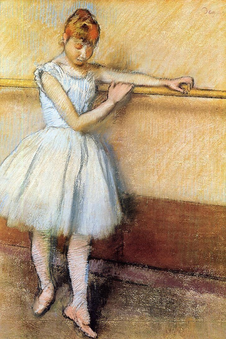 Edgar Degas - Danseuse à la barre  1880