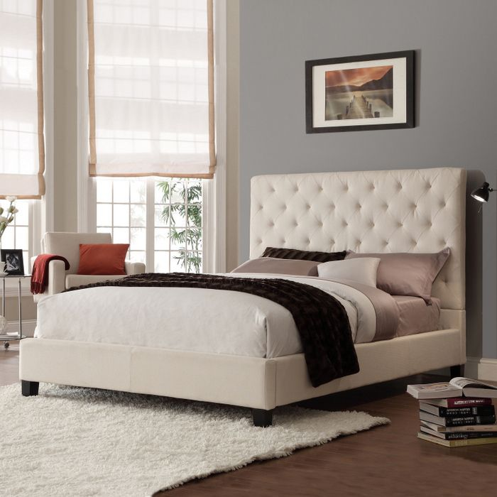 home creek sascha linentufted full platform bed - Platform Bed Full