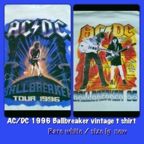 AC/DC BALLBREAKER 1996 Vintage concert Shirt Rare White NEW MINT RARE LARGE  | eBay
