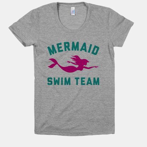 Mermaid+Swim+Team Tshirt